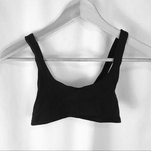 Women's XS Black Unlined Plain Bralette